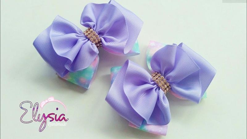 Ruffle Ribbon Bow Tutorial   DIY by Elysia Handmade