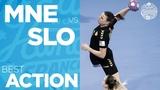 Tatjana Brnovic scores from the line Women's EHF EURO 2018