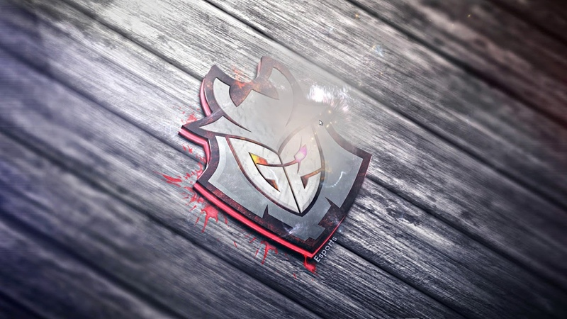 G2 Esports wallpaper animated in fire