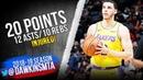 Lonzo Ball Triple-Double 2018.12.27 Lakers vs Kings - 20-12-10!   FreeDawkins