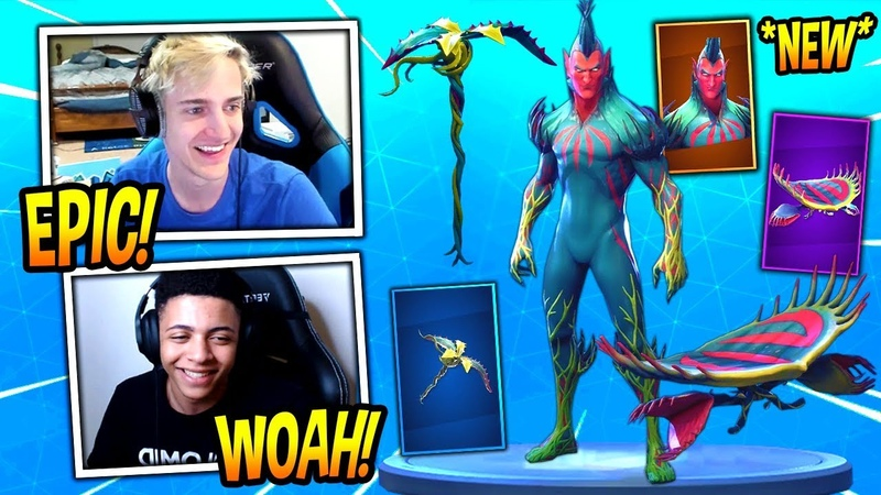 NINJA REACTS TO *NEW* FLYTRAP SKIN, VENUS FLYER GLIDER AND TENDRIL PICKAXE! Fortnite Moments