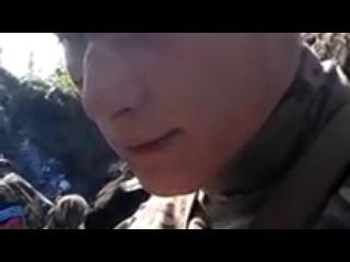 Украина, Луганск, пос. Металлист, 17.06.14. Пленный из батальона Айдар