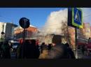 Прямой эфир продолжаем следить как тушат горящий памятник архитектуры на Володарского