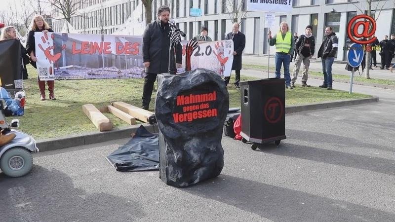 12.03.19 Wiesbaden - Mahnwache 'Die Leine des Grauens 2.0' Gericht Susanna Feldmann vs. Ali B.