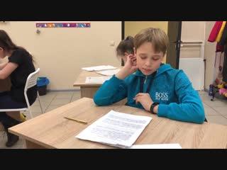 Егор (12 лет) прошёл курс «Красивый почерк»!