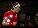 Shot of the Day - Roger Federer (SUI) remains cool at the net