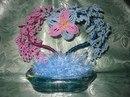 Цветы, деревья из бисера / цветы, дерево, камни, ручная работа, бисер, цветочная композиция.