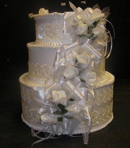 Свадебный торт для денег своими руками 89