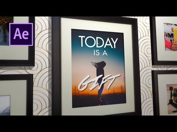 After Effects Tutorial - 3D Modern Picture Frame Slideshow Template. EASY!