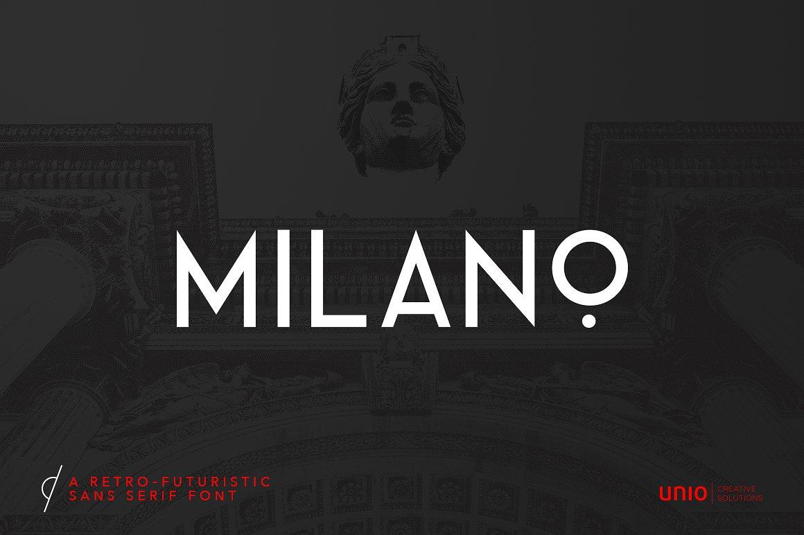 Шрифт - Milano