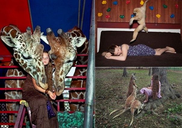 Маленькая дочка в мире животных. Арт-проект Amelia's world от Робин Шварц TjWno5axv9M