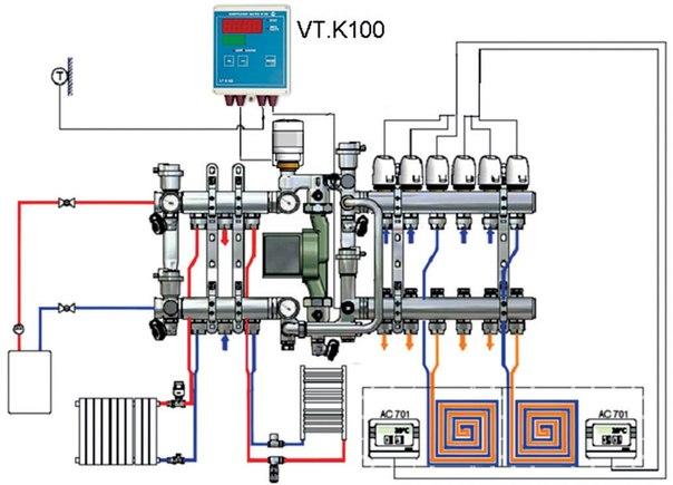 Валтек схема отопления и теплого пола