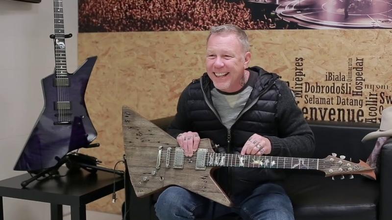 Джеймс Хетфиелд о гитаре Карл. На русском.