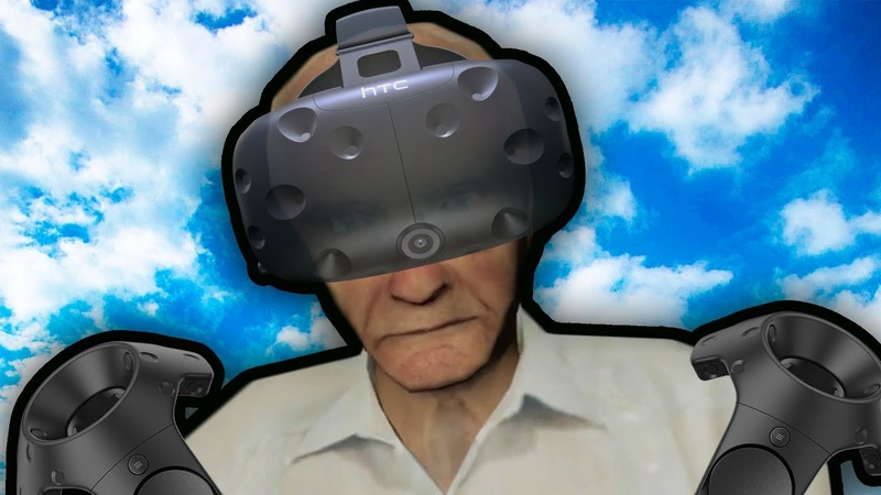 Putting my 90 year old grandpa in VRCHAT