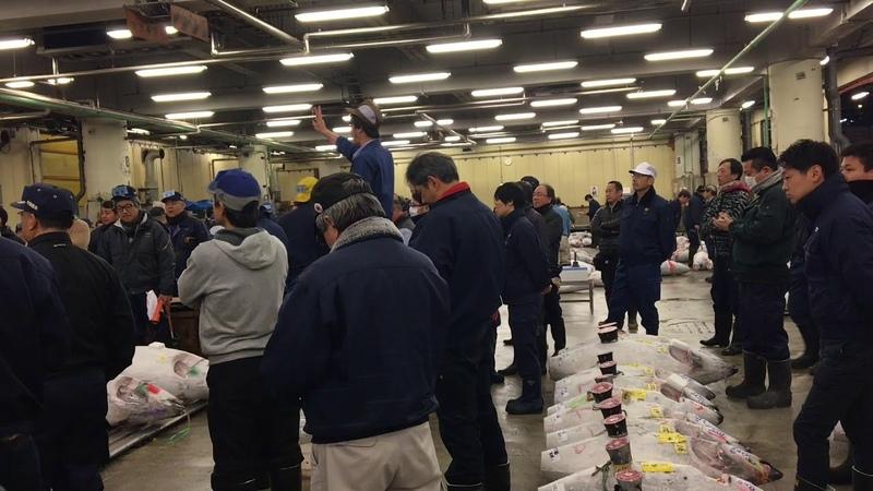 Tuna auction/Аукцион Тунца в Токио