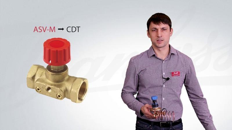 Автоматические балансировочные клапаны Danfoss серии APT