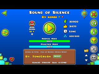 Geometry Dash-Sound of Silence By Konsi
