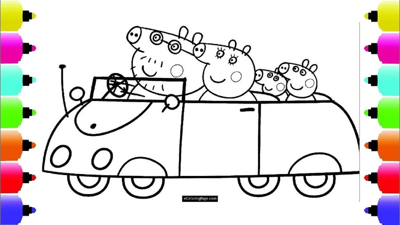 Peppa's Paintbox Peppa Pig Car Coloring Pages Cartoon Episodes 4 PeppaPig