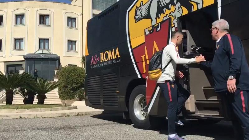 Кротоне - Рома 18.03.2018 - Команда отправилась на стадион!