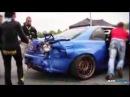 Nissan skyline gt-r r34 drifting accident