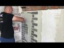Монтаж фасадной системы АМК на минеральную вату.