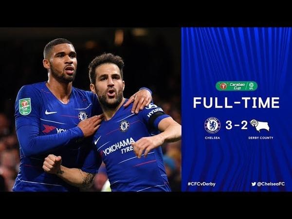 Челси - Дерби Каунти (3:2). Обзор матча. | Chelsea - Derby County (3:2). Highlights and goals.