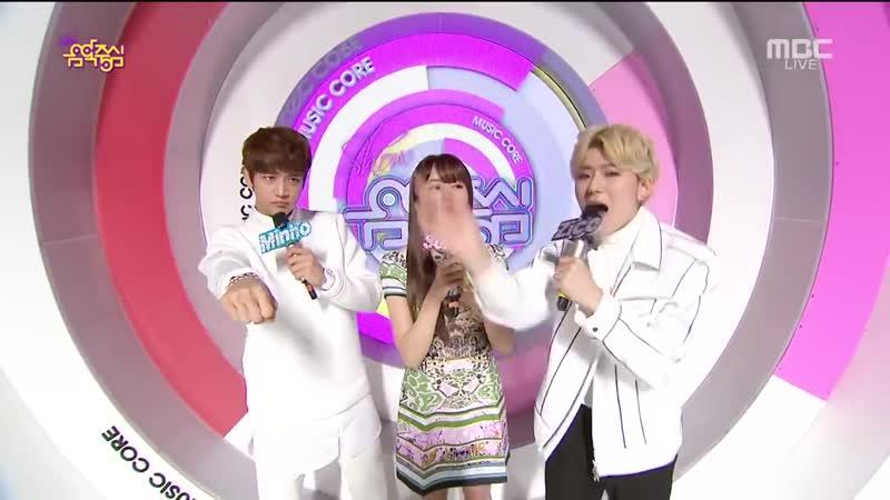 150214 Minho SHINee Zico Block B Kim Sohyun MC Cut @ Music Core[1]