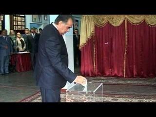 В Таджикистане Центризбирком огласил предварительные результаты президентских выборов - Первый канал
