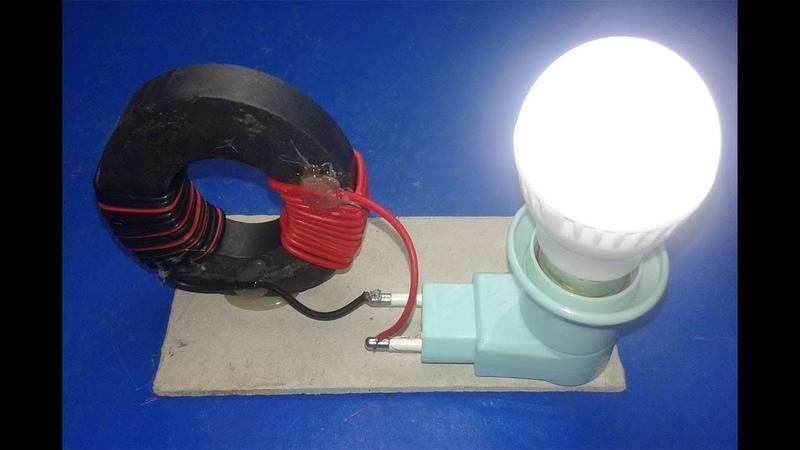 Free Energy Generator light bulb 220v with Magnet l New Technology
