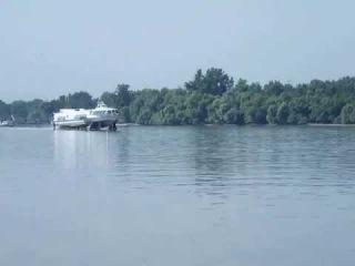 SÓLYOM II. szárnyashajó Esztergom felé - SÓLYOM II. Hydrofoil sailing to Esztergom