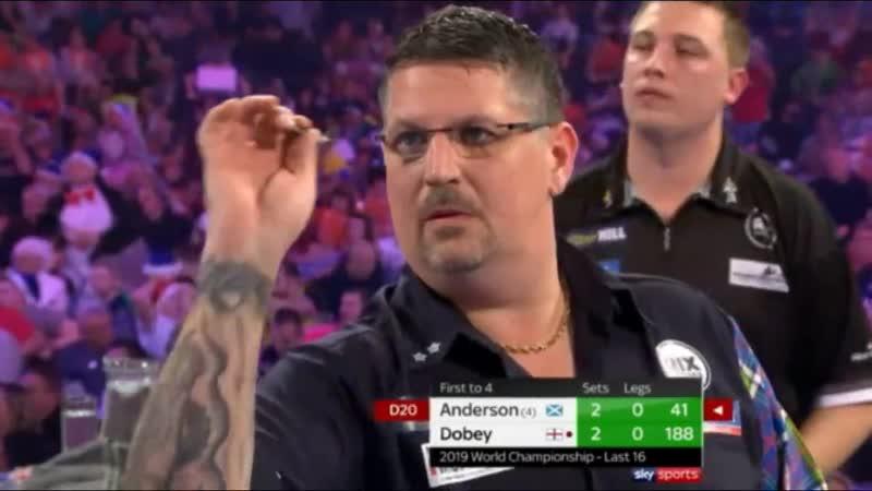 2019 World Darts Championship Round 4 Anderson vs Dobey
