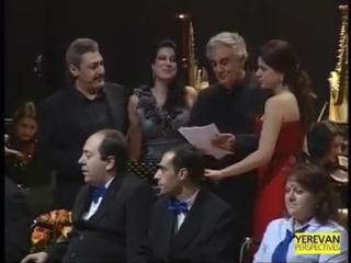 Placido Domingo and Paros Chamber Choir performing the hymn of Yerevan (Yerevan dardzats im Erebuni)