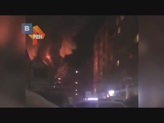Пожар в Махачкале. В редукторном горела аптека