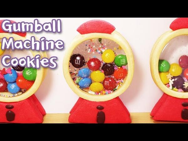 데구르르@@ 풍선껌 머신 쿠키 만들기 ! ガムのガチャクッキー!! How to make Gumball mac