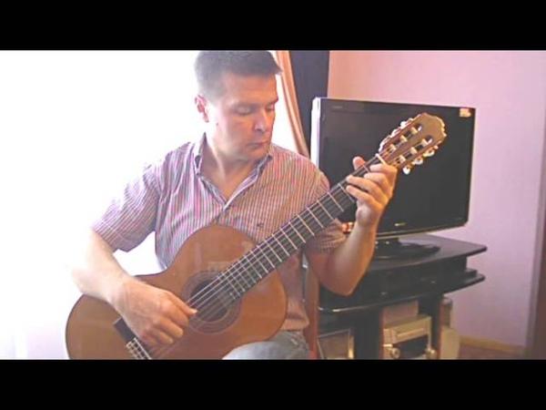 JS Bach. Minuet in G major. Classical guitar V.Sharii