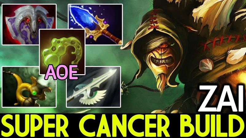 Zai [Bristleback] Super Cancer Build AOE Slow 7.19 Dota 2