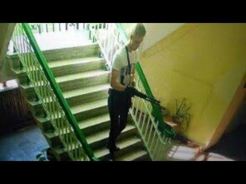 (18) Эксклюзив! Полный путь керченского убийцы с камер наблюдения в колледже - Россия 24