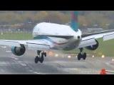 Взлеты и посадки самолетов при сильном боковом ветре