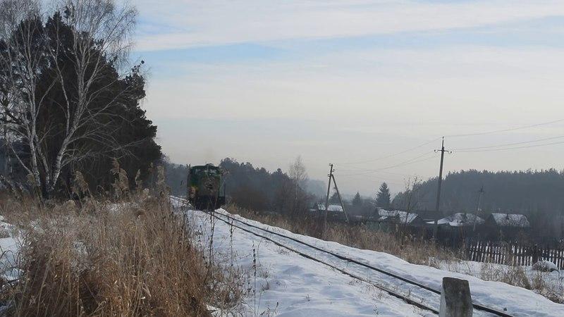 АУЖД ТУ7А 3367 с туристическим поездом Алапаевск Синячиха и приветливым машинистом