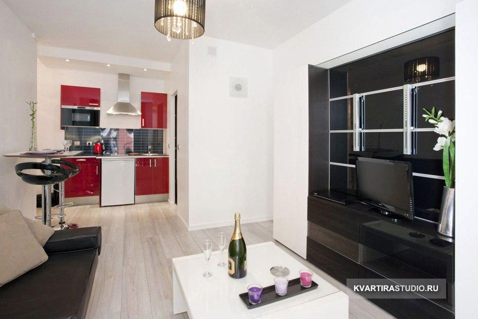 Квартира-студия 25 м с французским окном в Париже / Франция - http://kvartirastudio.