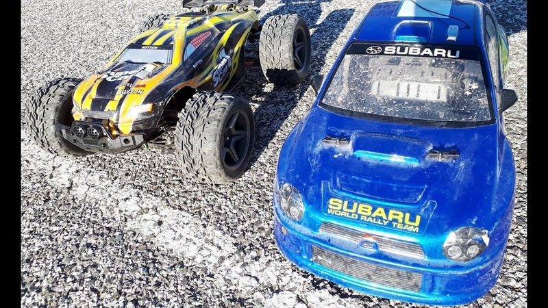 Subaru Impreza vs 4WD Racing Car. RC TOYS Cars Race Competition!