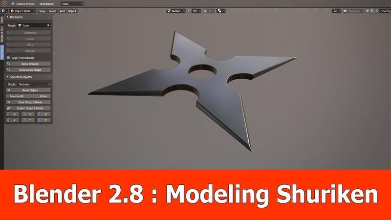Blender 2.8 Modeling Tutorial Shuriken