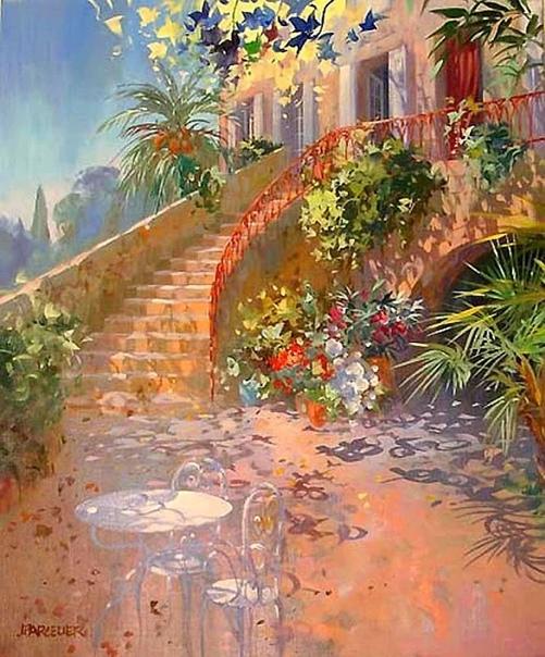 французский художник пейзажист Лоран Парселье Лоран родился в 1962 году в городе Шамальер, очень рано начал рисовать, особенно хорошо у него получались пейзажи. Закончив местную художественную