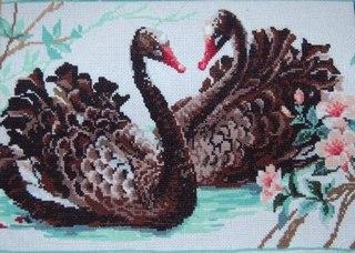 Описание: Схема для вышивки крестом - Черные Лебеди от Риолис в формате xsd.