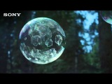 Качественная реклама Sony в формате  4K - снежные мыльные пузыри
