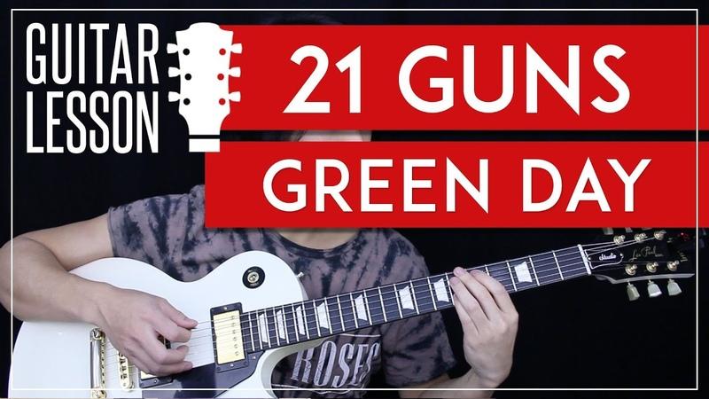 21 Guns Guitar Tutorial - Green Day Guitar Lesson 🎸 |Tabs Solo Guitar Cover|