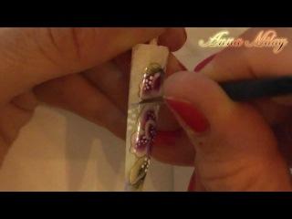 Уроки от чемпионки мира по дизайну ногтей. Орхидея в технике one stroke