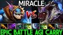 Miracle- Slark VS Pro Luna IO Tier Master | Epic Battle Agi Carry 7.21 Dota 2