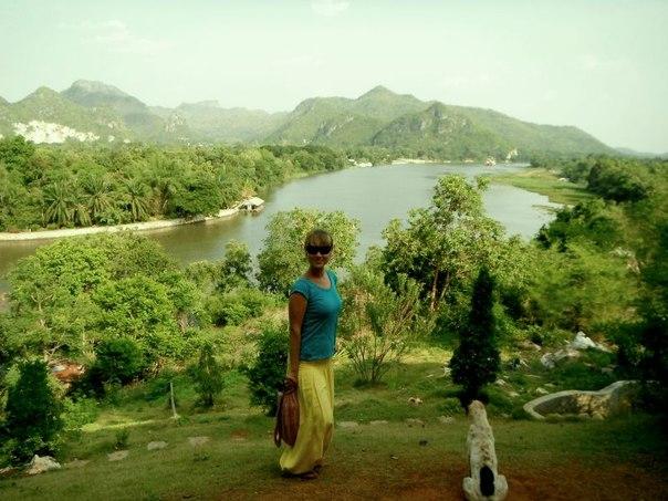 Вид с храма Wat Tham Khao Pun, Канчанабури