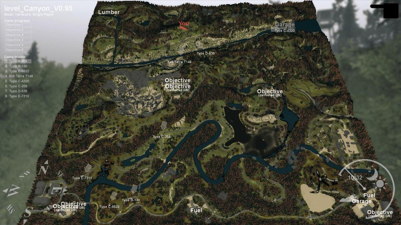 SPIN TIRES скачать карта «Каньон» V0.95 UjDMwK5EREA